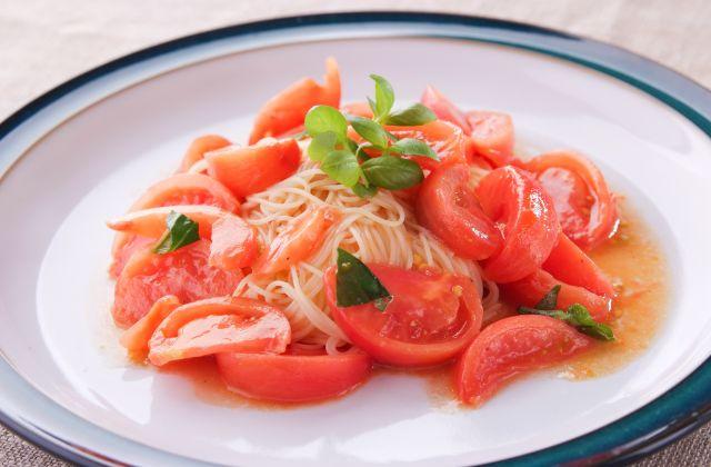 トマトの冷製 パスタ