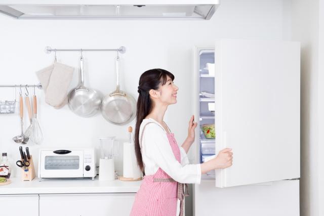 冷蔵庫開ける